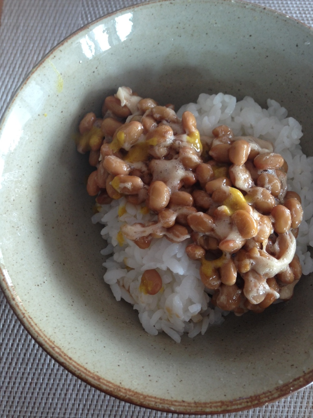 Natto: I do admit. It's an acquired taste but it's a recent favorite of mine.