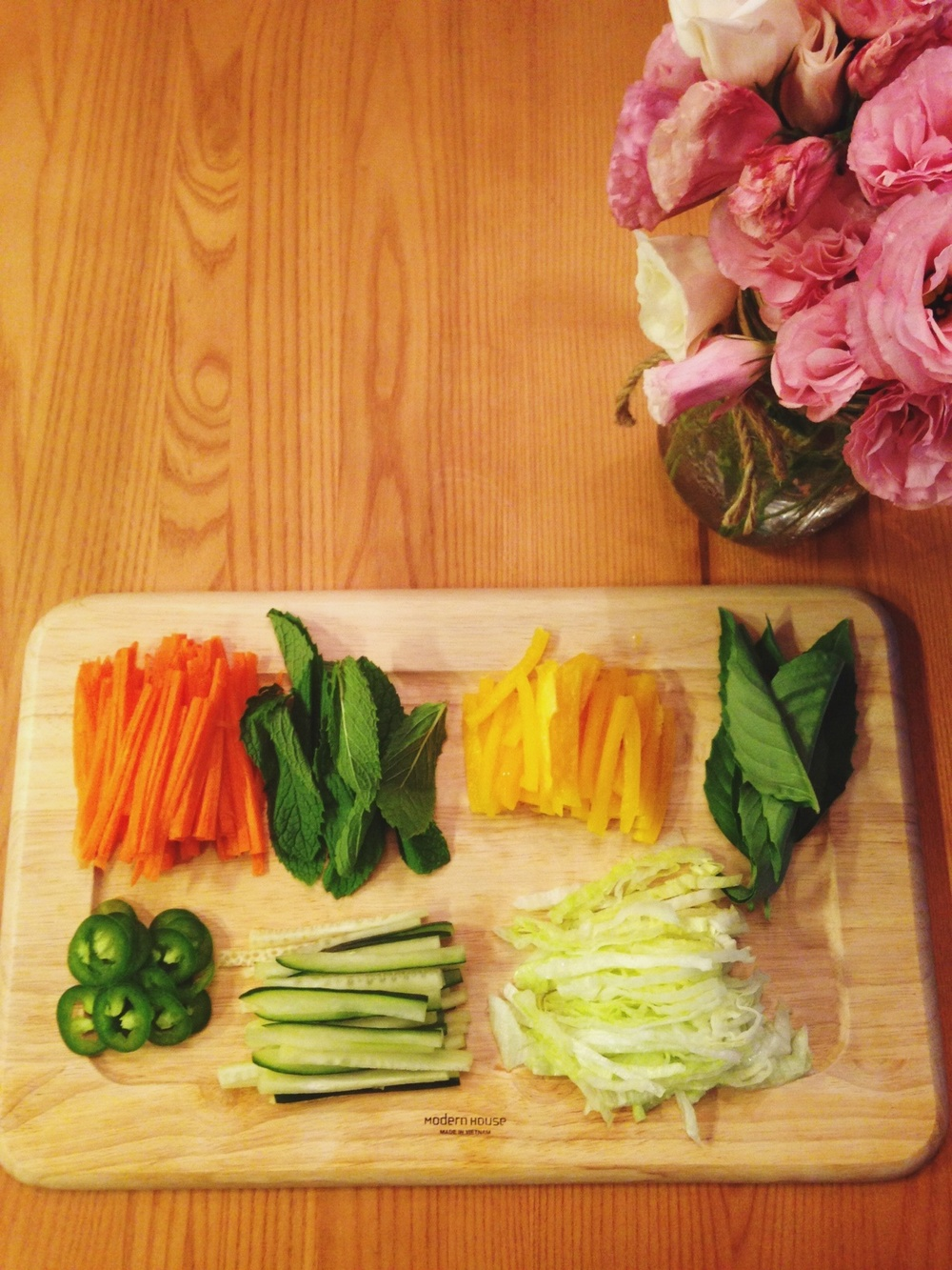 Summer is here! Summer rolls (inspired by  Cupcakes and Cashmere  and  Food Tube )