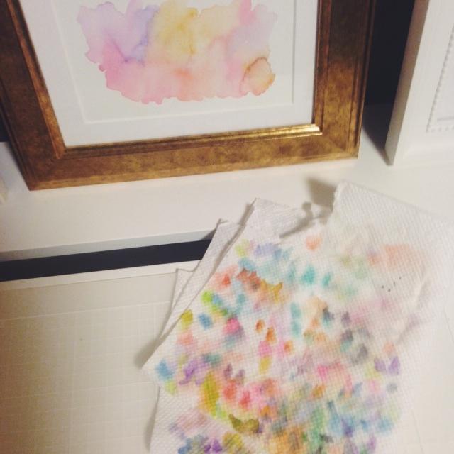 Beautiful watercolor remnants
