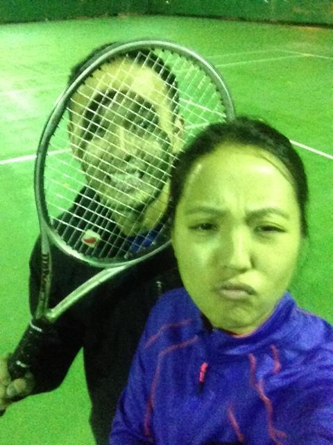 """""""Friendly"""" match of tennis"""