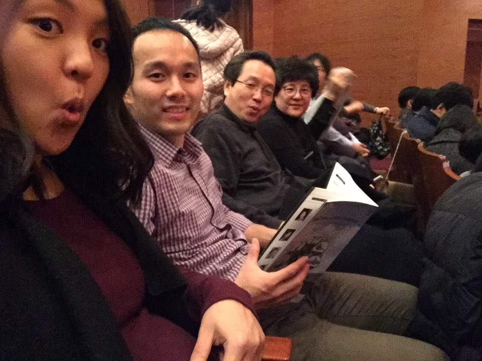Bebe's second time at 예술의전당 Seoul Art Center - this time for Handel's Messiah with grandma and grandpa! He was having a dance party in my belly throughout the performance!