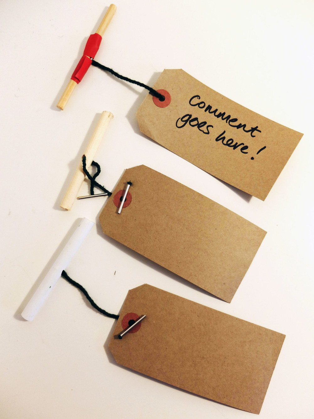 Different ways to make the giant treasury tags