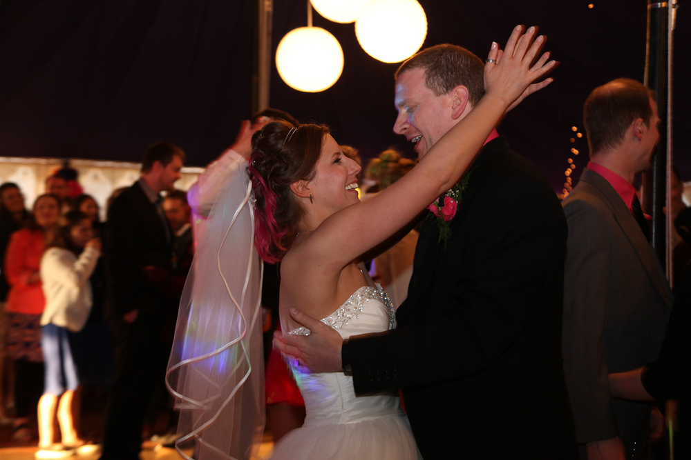 Married at last and dancing the night away