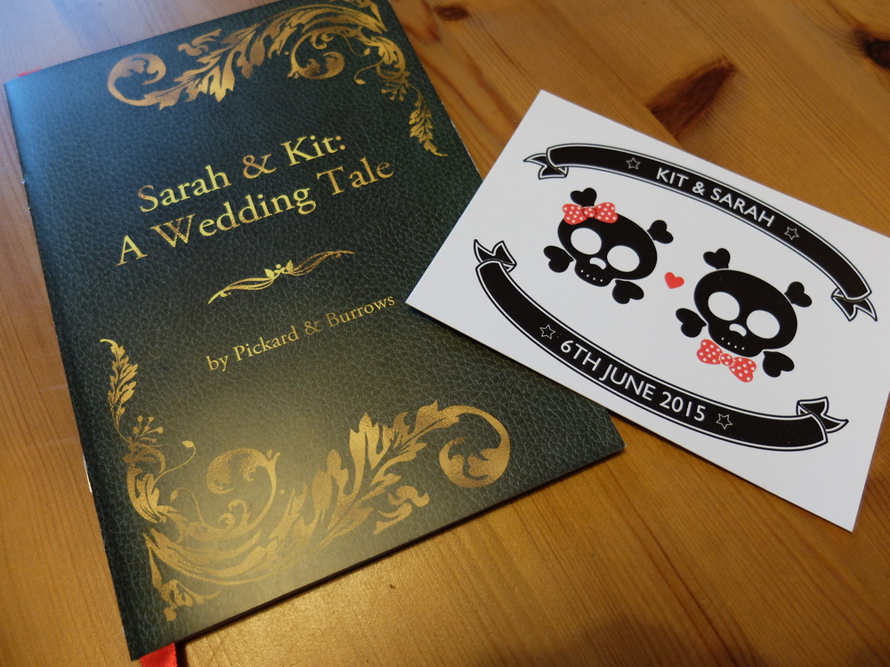 Our invitations (left) and save-the-dates (right). Brand consistency wasn't too high on our agenda... We had great fun designing the stationery.