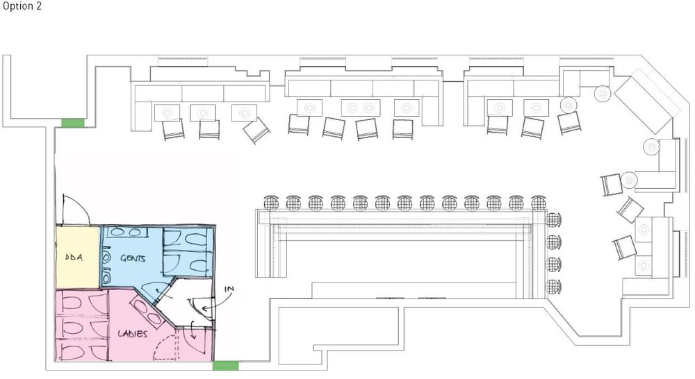Roc & Rye - interior design development drawing