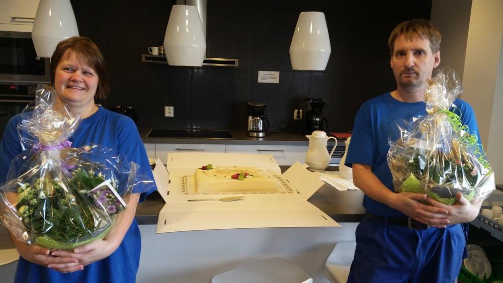 Vibeke og Harald ved avdeling Mongstad