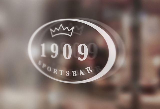 Logo og profilering for 1909 Sportsbar på Dr.Holms Hotel.