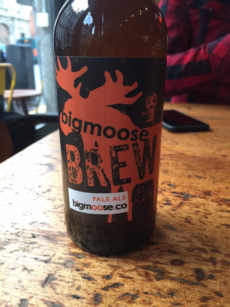 the exceptionally great tasting bigmoose brew.