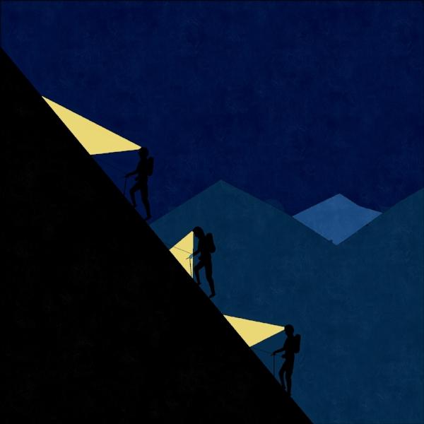 three mountaineers - siraj mukadam