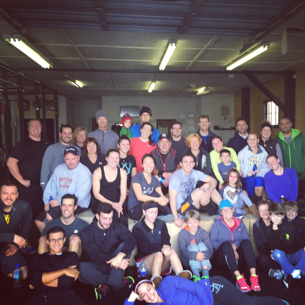 Awesome turnout for our Thanksgiving workout!  We can't thank each of you enough for being a part of our CrossFit family!  We are starting to plan for Christmas Eve...