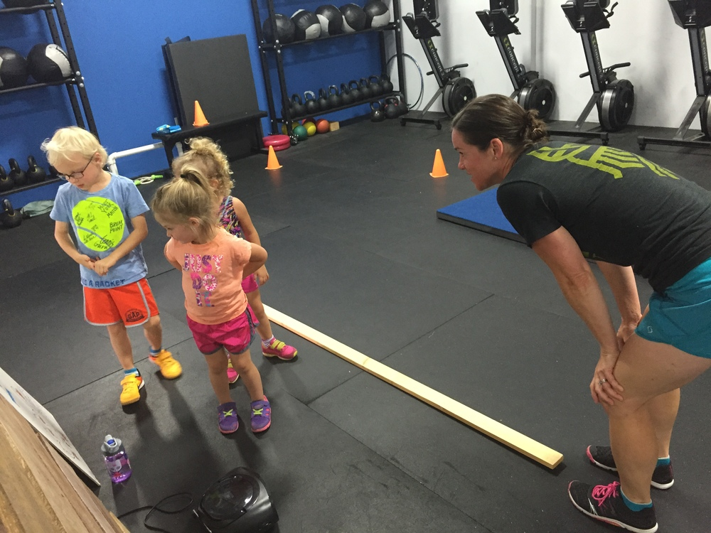 The preschool program is the cutest thing in the world!  Contact tia@odincrossfit.com if you are interested in registering your little one.  Like all of our kid's classes, the preschool class is taught by CrossFit Kids coaches who are passionate about teaching children.  They make exercise so much fun!