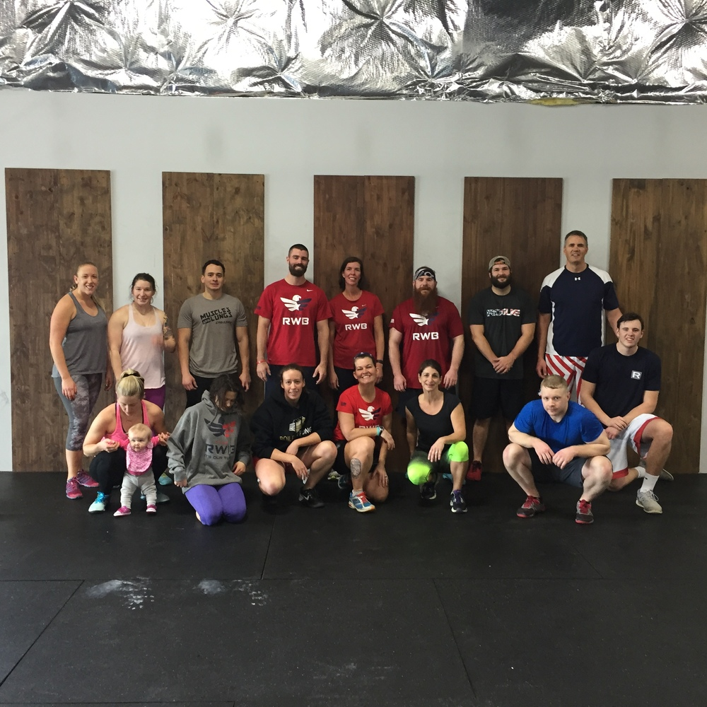 We had an awesome Team RWB workout on Saturday!  Check out this amazing organization.  It is free to join and veterans get a free shirt!