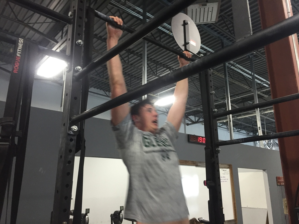 Christian's pull ups are looking awesome!  Keep it up!