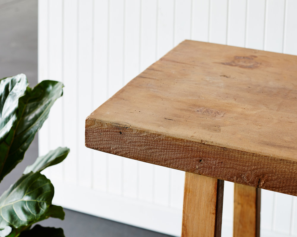 Vintage Butchers Block Side Table