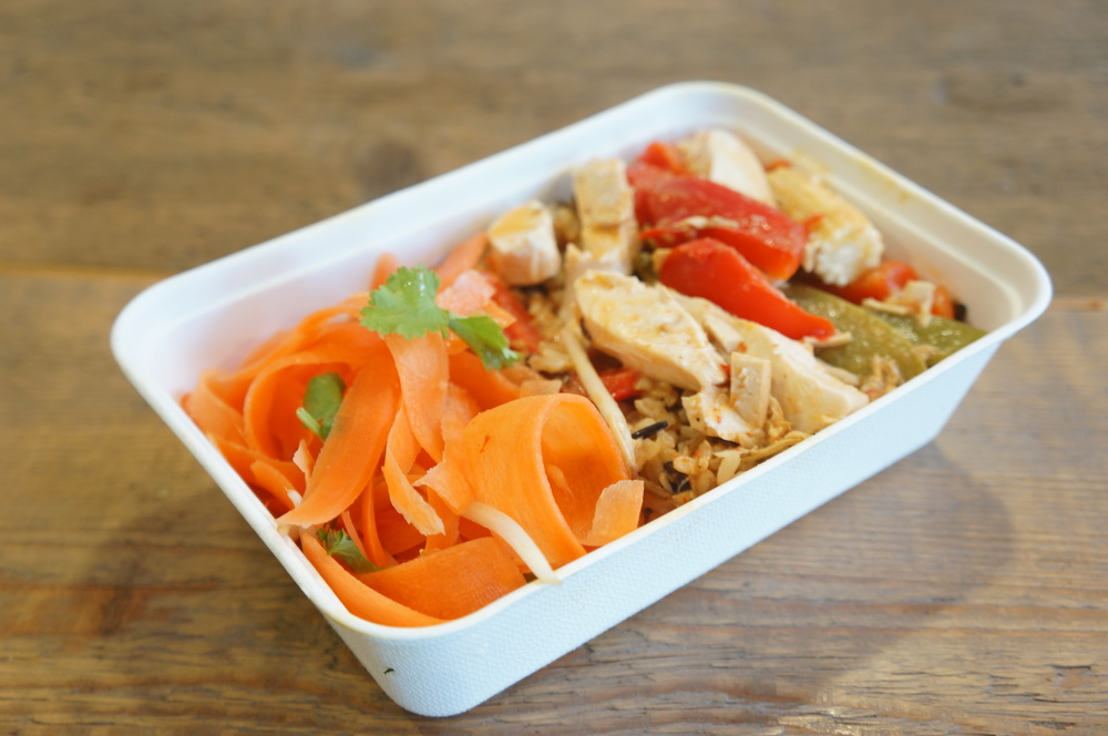 Our best selling Thai Red Curry in a Sustain Bagasse box