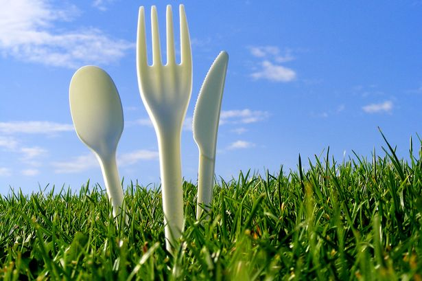 Vegware cutlery made from potato and corn starch