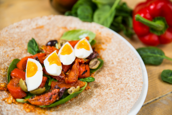 Roast Pepper & Egg Wrap