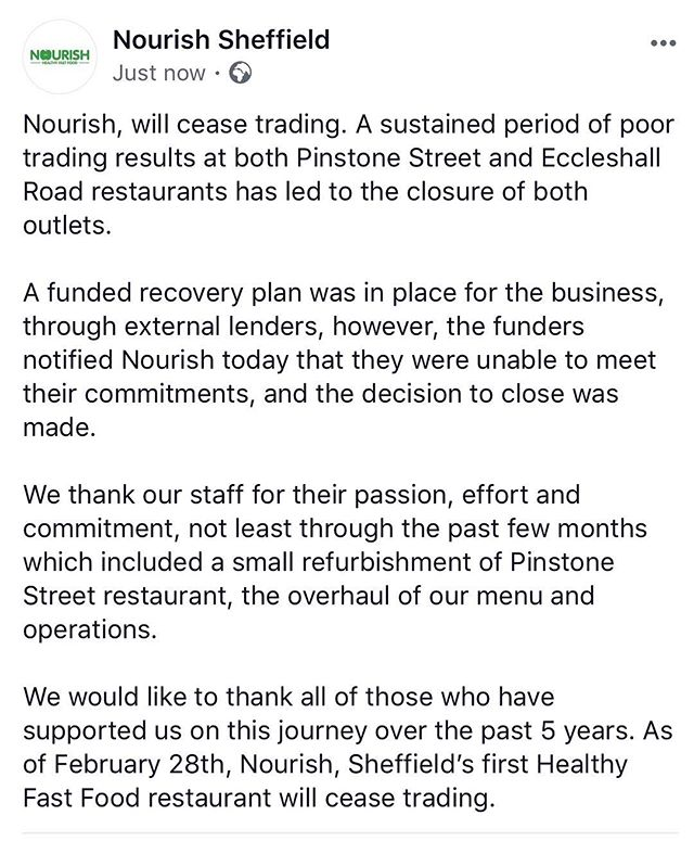 Today was our final day. Thank you to all who supported us along the way. #nourish #sheffield #healthyfastfood #itsbeenablast