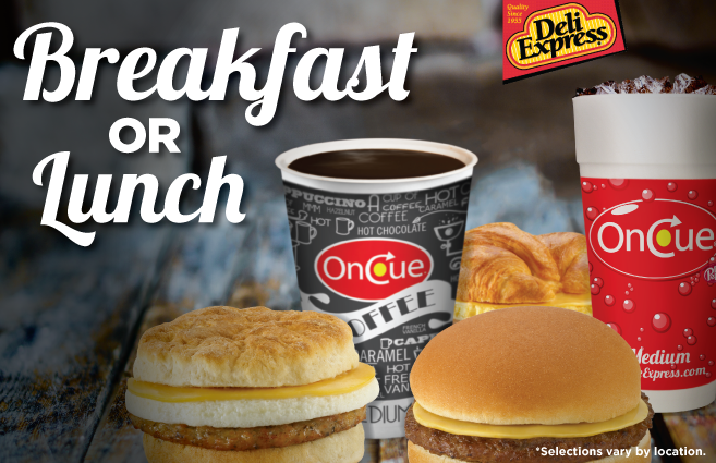 Try our Deli Express breakfast or lunch options!