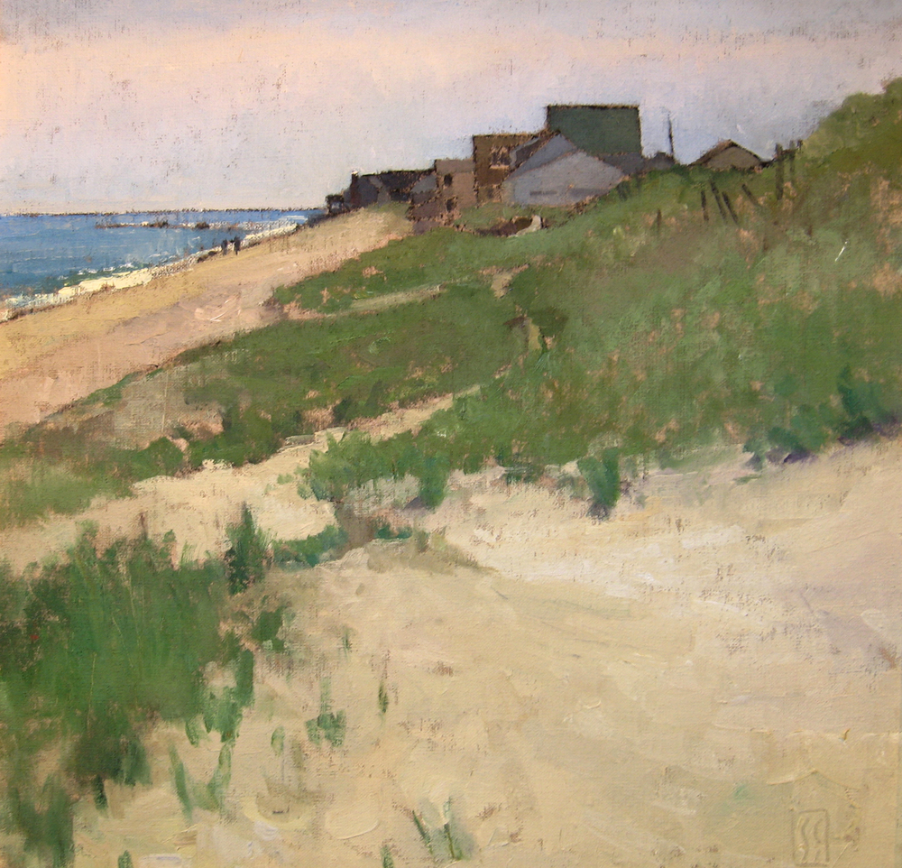 Rexhame Dunes  24 x 24 oil on linen  First Place Oil North River Arts Society  sold