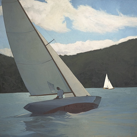 The Lifted Tack  48 x 48 oil on linen  sold