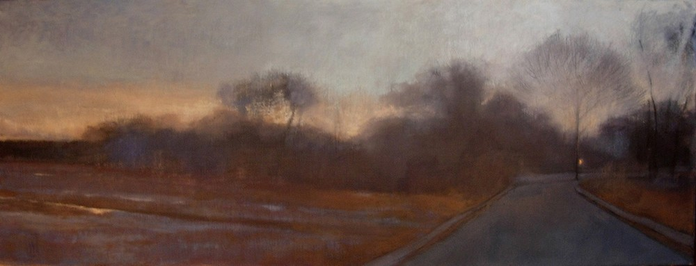 Paper Route  12 x 36 oil on linen  sold