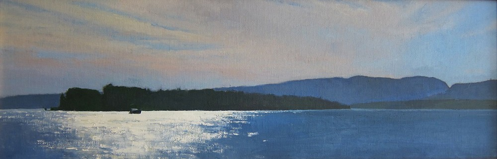 Bright Water  12 x 36 oil on linen  sold