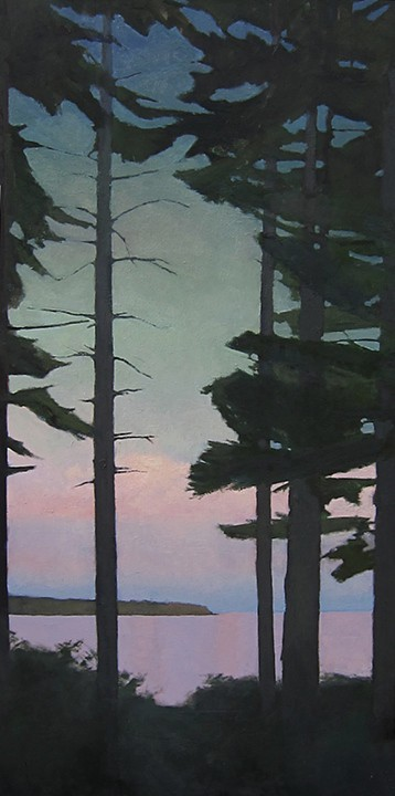 Toward Baker's Island  24 x 48 oil on linen  sold