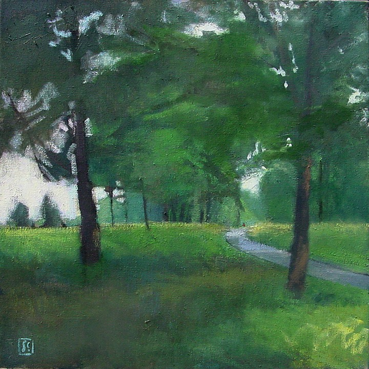 Two Trees  30 x 30 oil on linen  sold