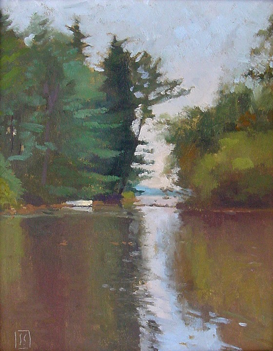 Brook by Squam Lake  11 x14 oil on linen  sold