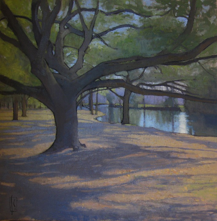 Nola Oaks  48 x 48 oil on linen  Collection the Artist