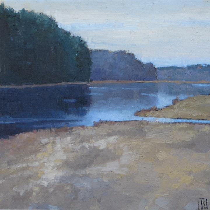 Silver River  16 x 16 oil on linen  sold
