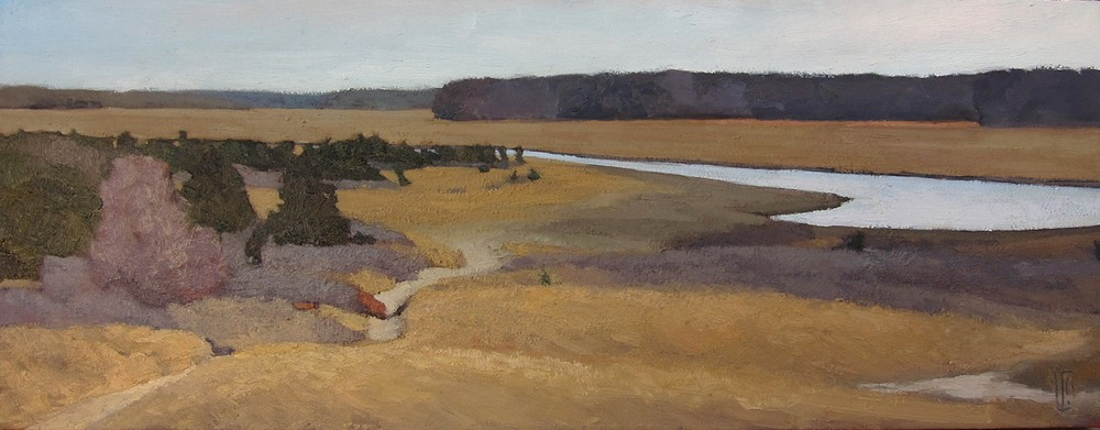 South River  12 x 36 oil on linen  sold
