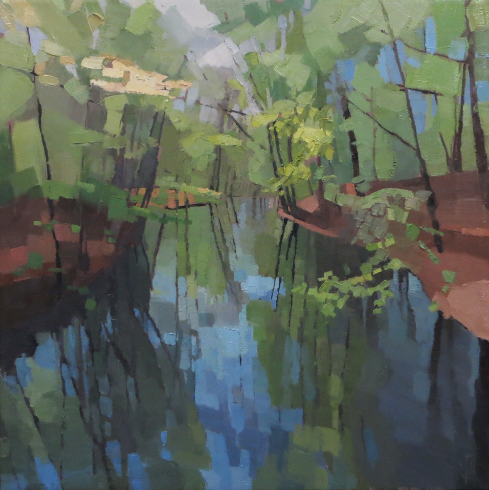 Emerald Cut River  24 x 24 oil on linen  sold