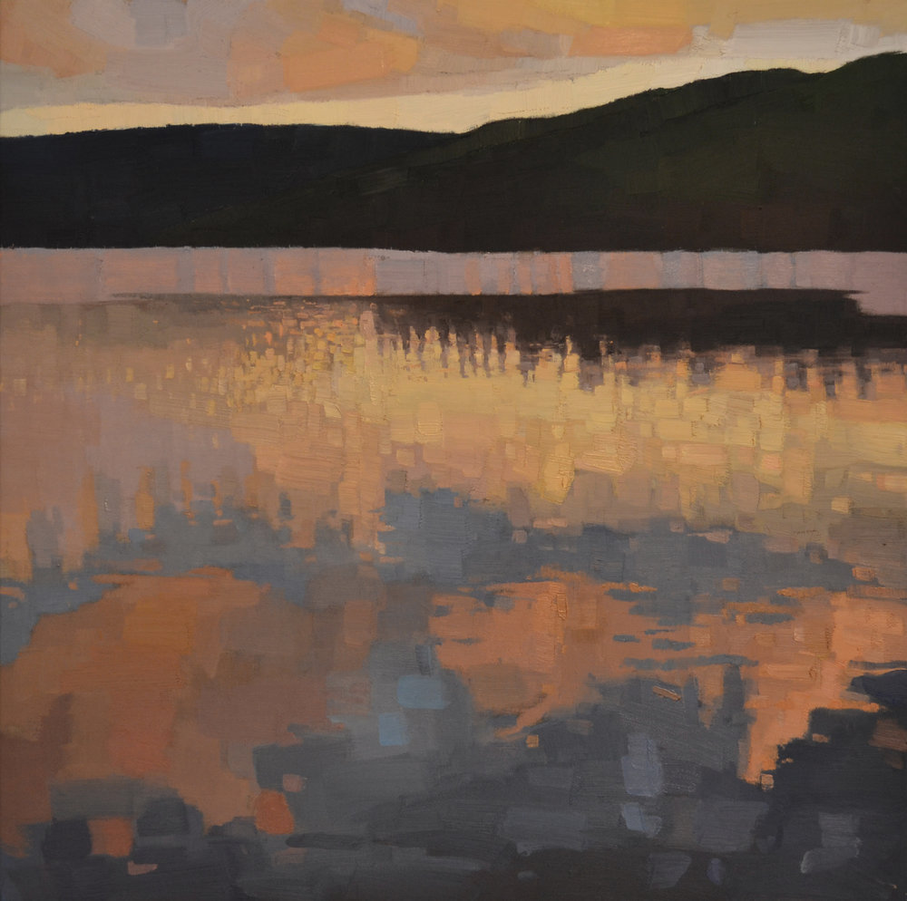 Night Lake  30 x 30 oil on linen  sold