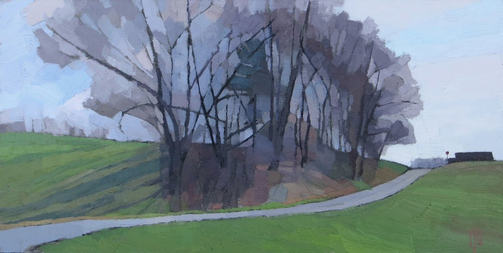 Mulberry  12 x 24 oil on linen panel  Powers Gallery, Acton, MA
