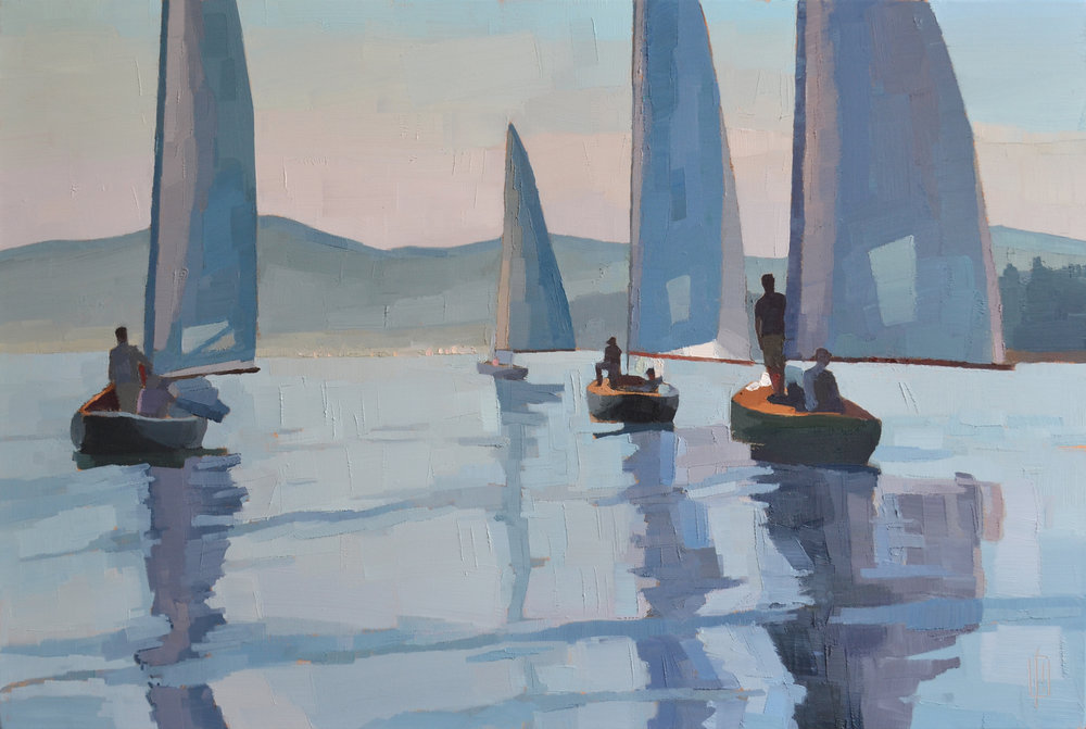 Becalmed  24 x 36 oil on linen  sold