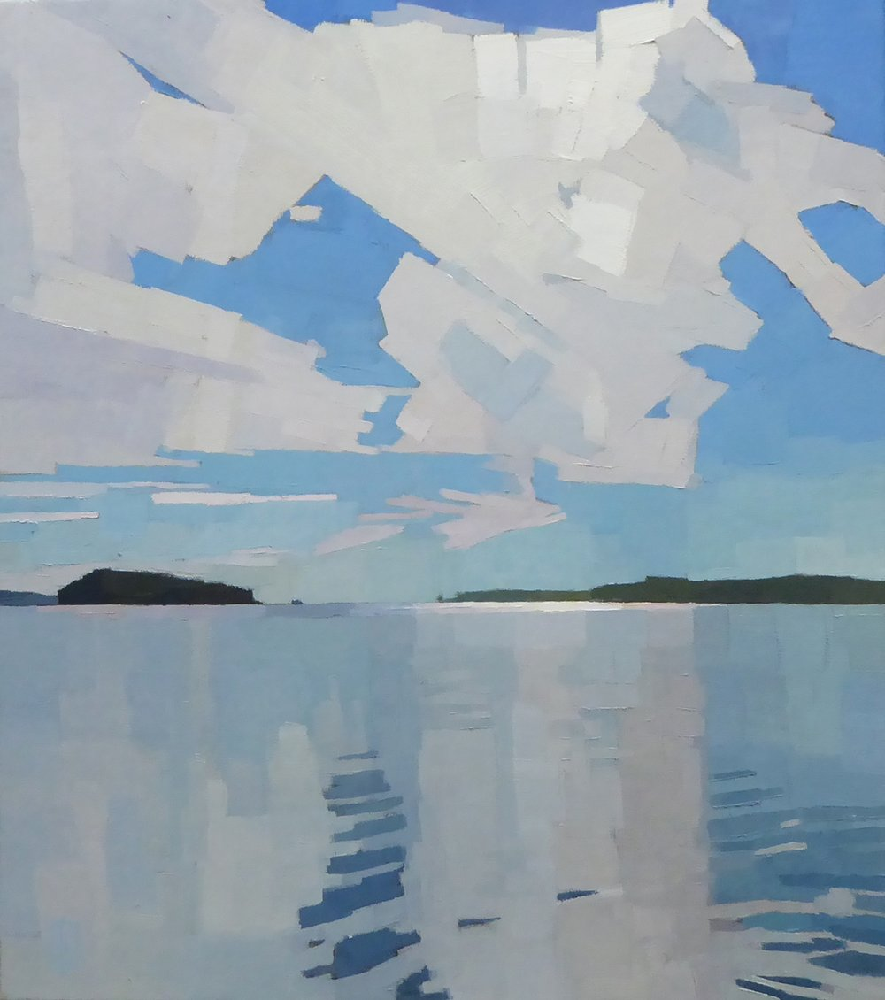 Blanketing Sky  26 x 29 oil on canvas   First Place Oil Newburyport Art Regional Show May 5 - June 3
