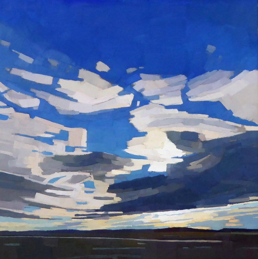 So Blue  26 x 26 oil on linen  South Street Gallery Hingham, MA