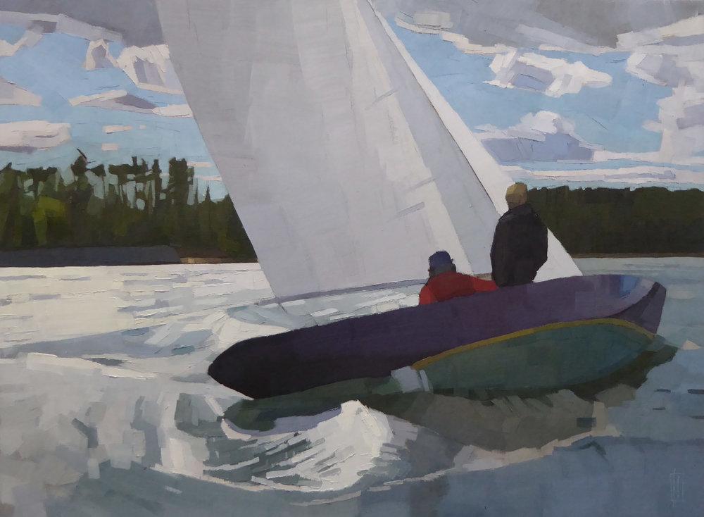 Late Summer Sail  30 x 40 oil on linen
