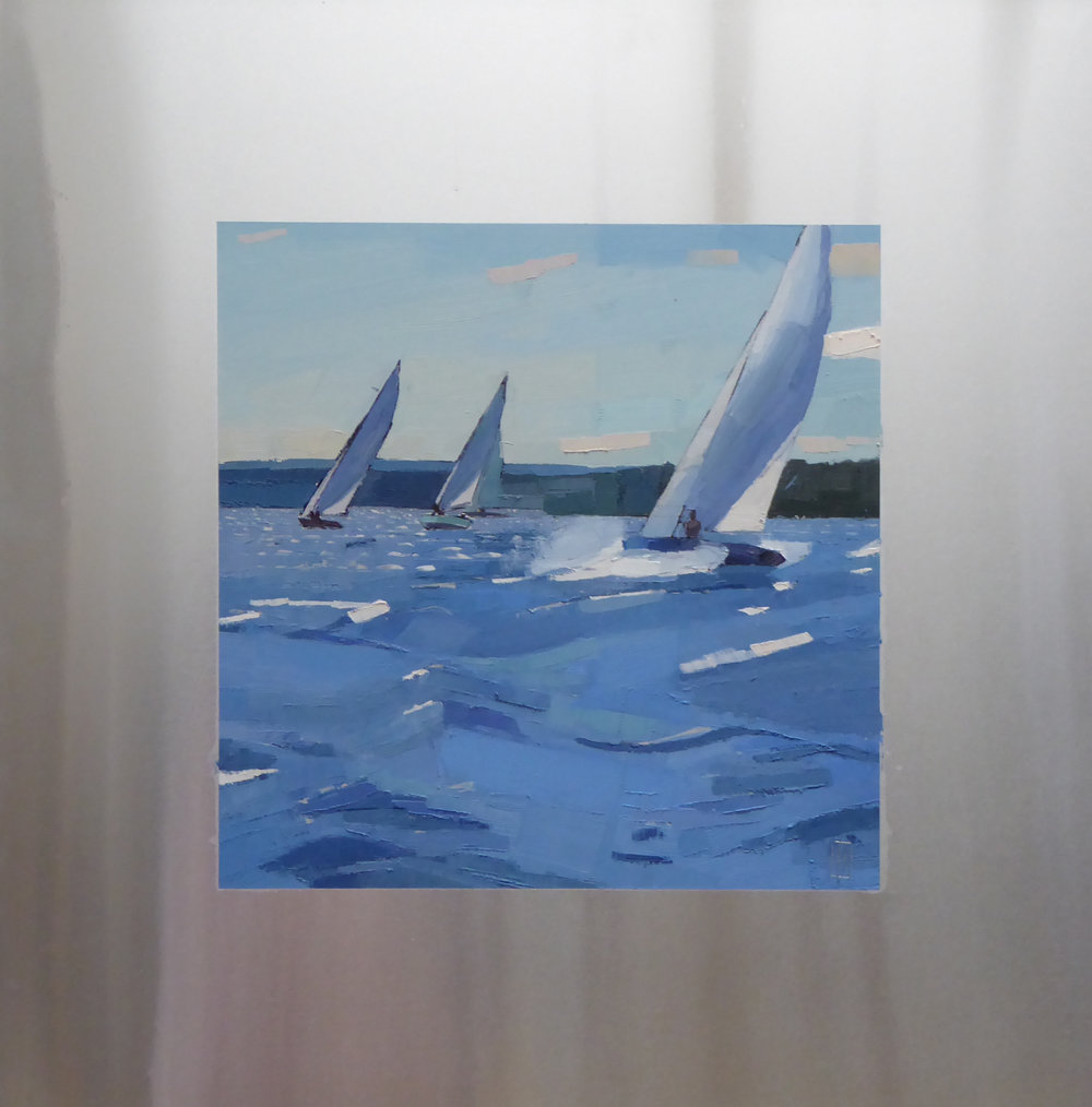Fresh Breeze  12 x 12 oil on 20 x 20 aluminum panel  Islesford Artists  Islesford, ME
