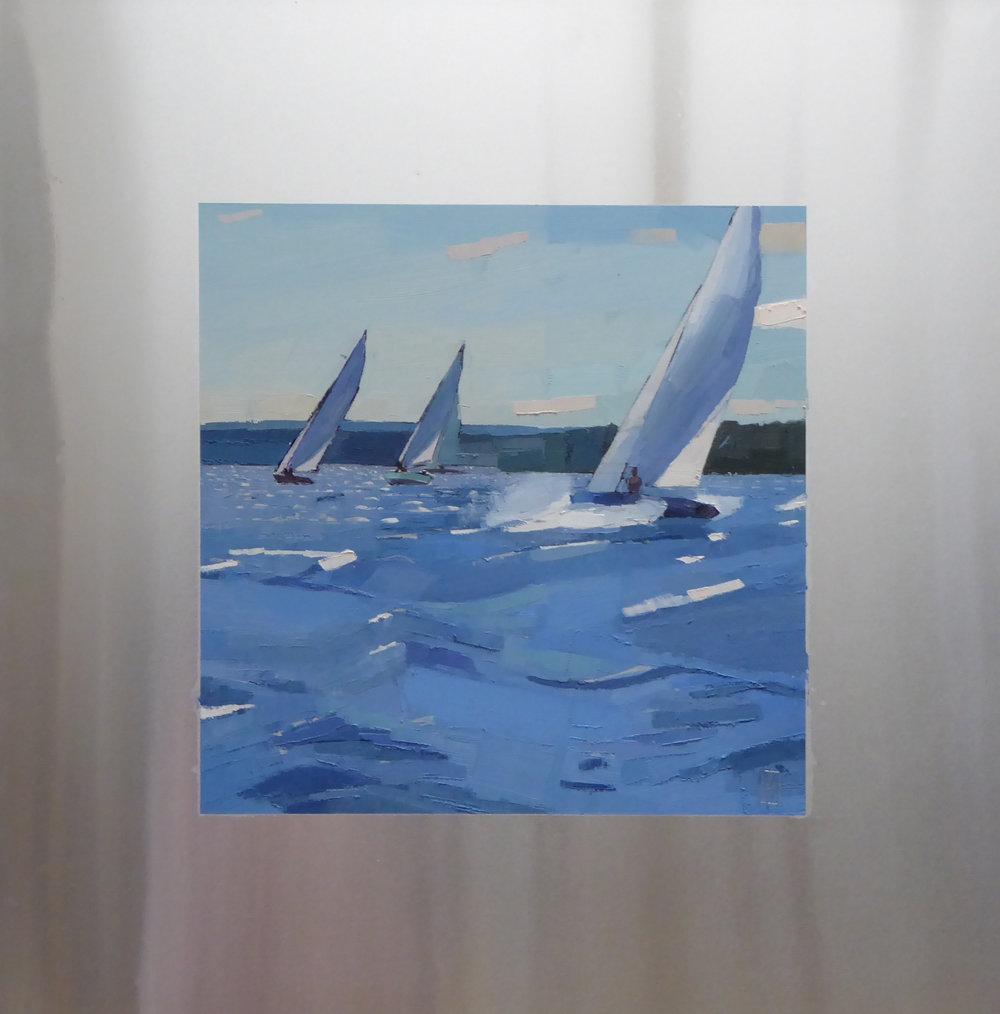 Fresh Breeze  12 x 12 oil on 20 x 20 aluminum panel   Islesford Artists Gallery   sold