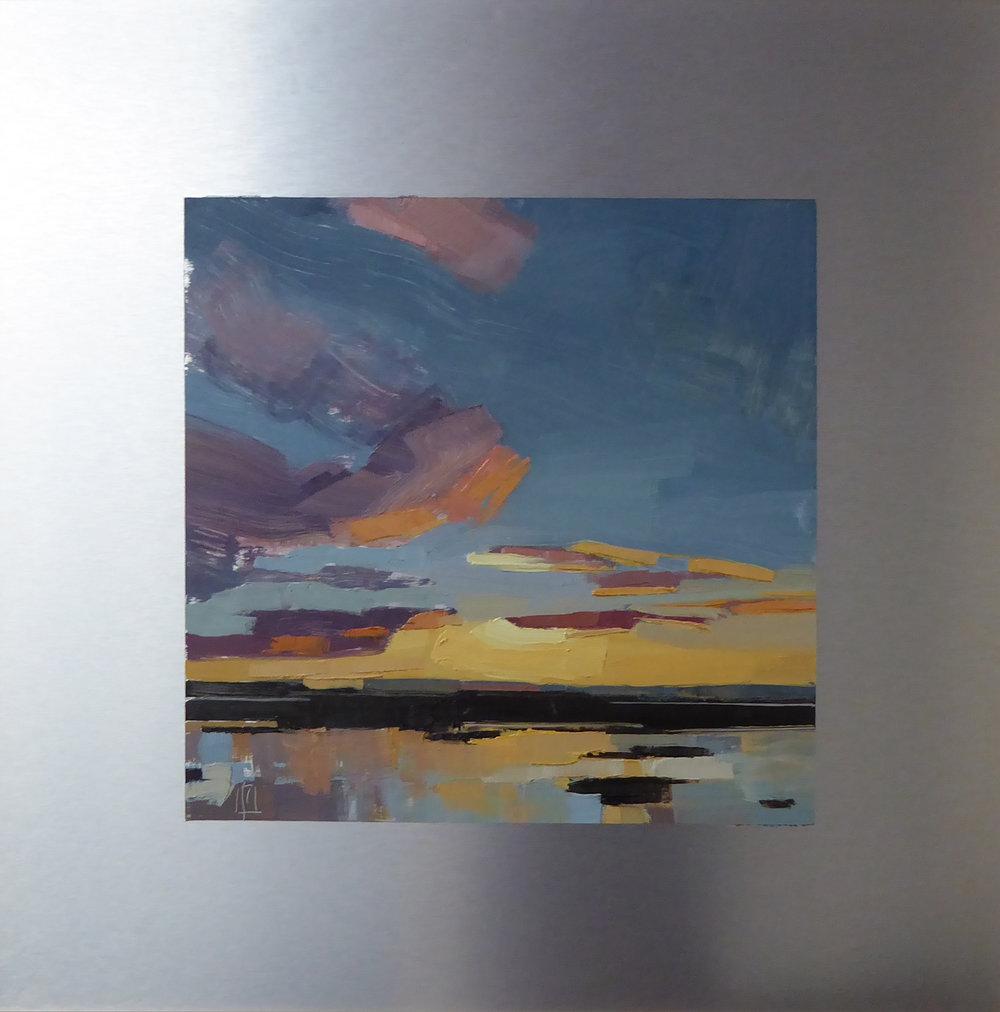 Plum Island, West  12 x 12 on 20 x 20 alum panel   Islesford Artists Gallery