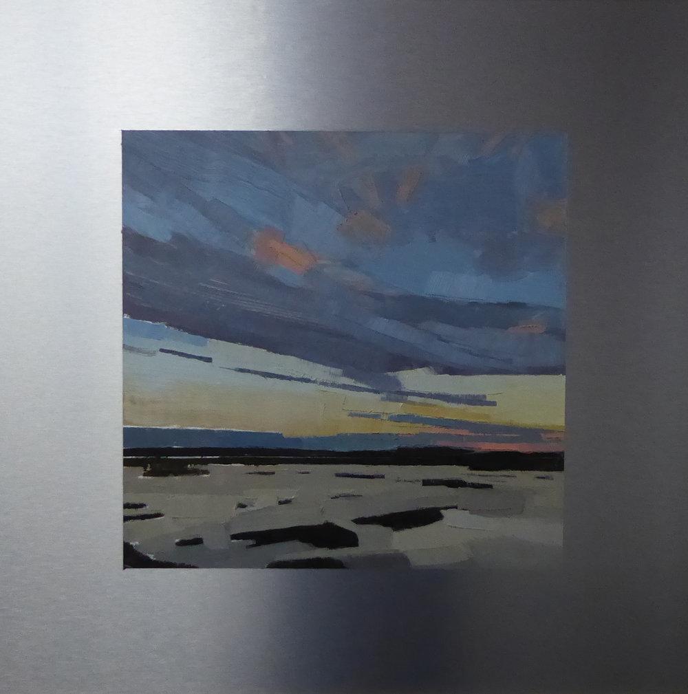 Plum Island, South  12 x 12 oil on 20 x 20 alum panel   Islesford Artists