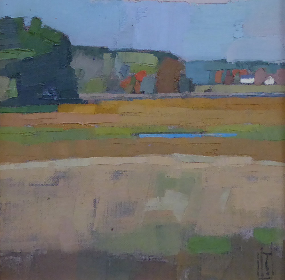 Newbury Marshes 8 x 8  sold  South Street Gallery