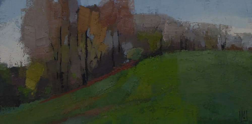 Rolling Fields 6 x 12  sold  South Street Gallery