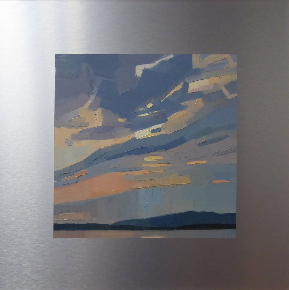 Shine Down  12 x 12 on 20 x 20 panel   Islesford Artists Gallery