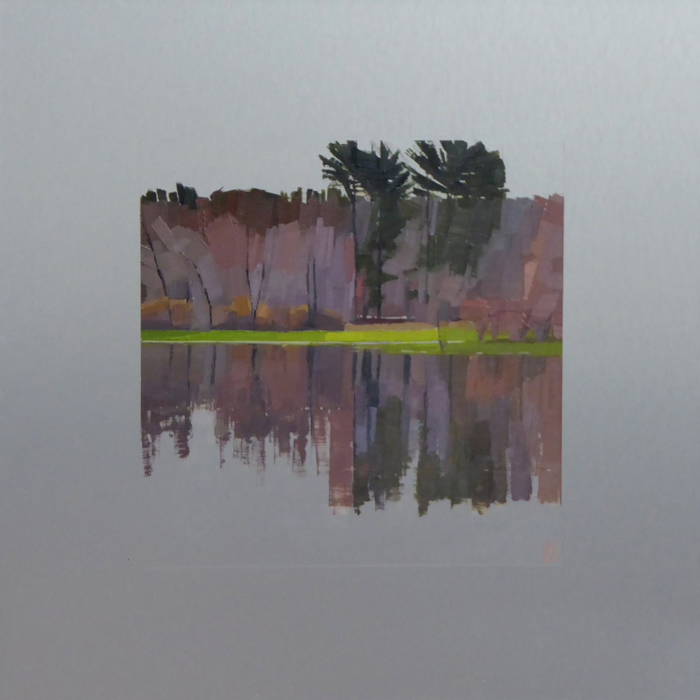 Reflect  12 x 12 oil on 20 x 20 aluminum panel  Alpers Gallery, Andover, MA