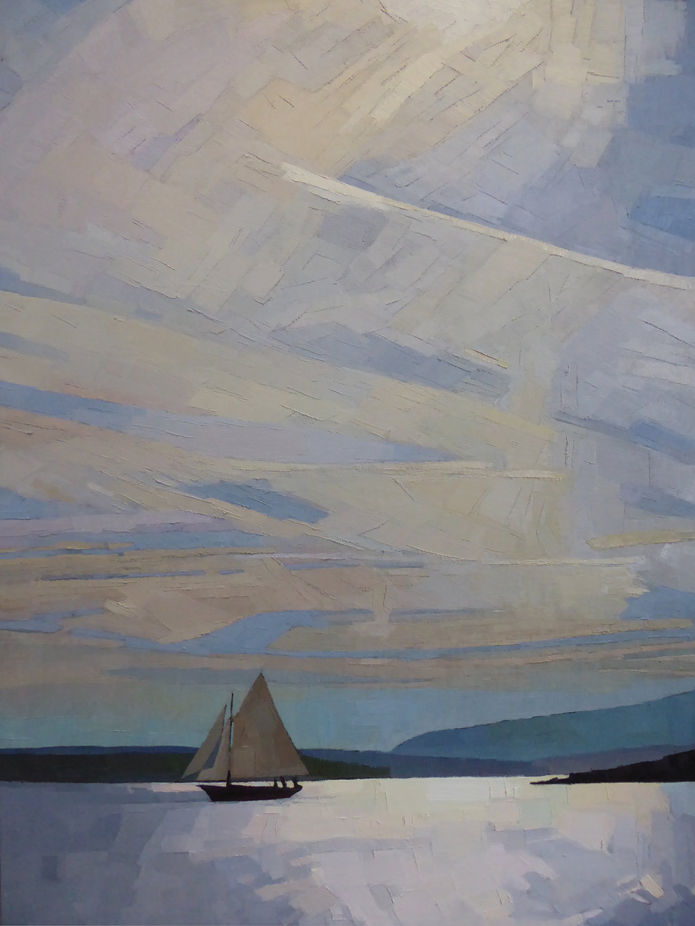 Sloop in the Sun  30 x 40 oil on linen  Commission/Sold