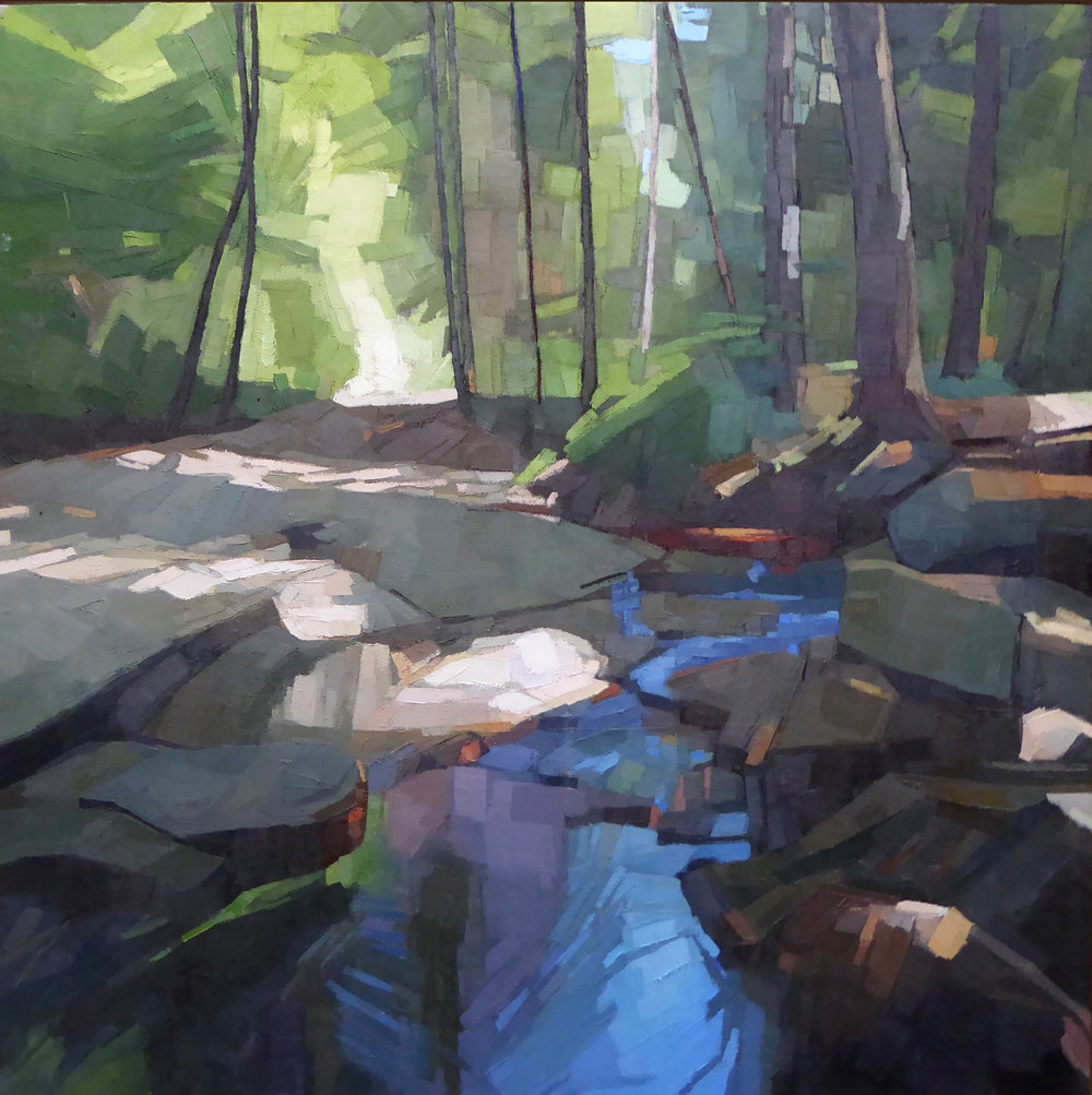 Headwaters  36 x 36 oil on linen   Islesford Artists Gallery   First Place Oil NAA Regional Show 2018